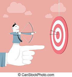 Vector illustration - Target & Success Concept