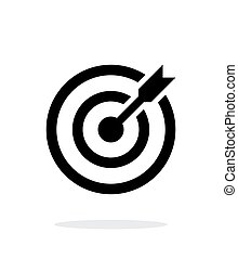 Successful shoot. Darts target aim icon on white background. Vector illustration.