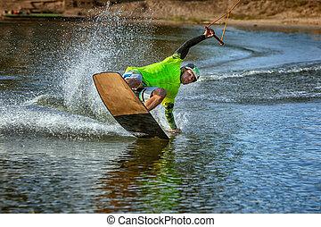 Summer board lake.