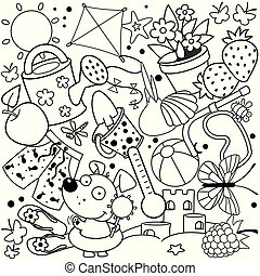 Summer coloring for children.