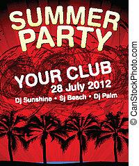 Summer Party flyer vector template