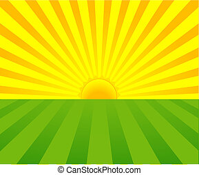 Summer Sunrise background with place for your text