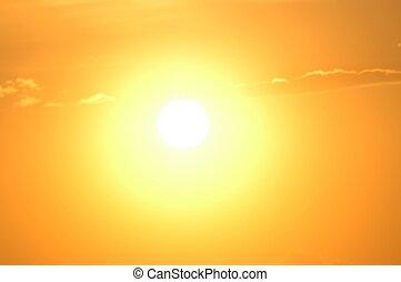 Sun view, Santorini, Greece