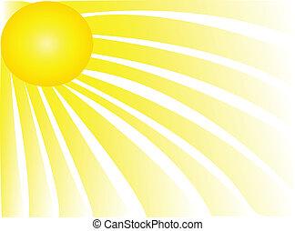 Sun rays shiny