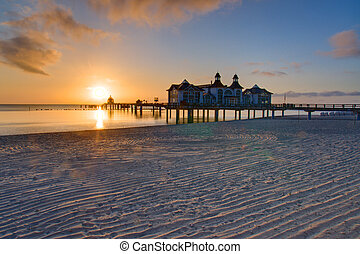 Sunrise on Ruegen island, Baltic Sea, Germany