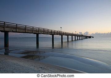 Sunrise on the Pier in Binz, Ruegen Island