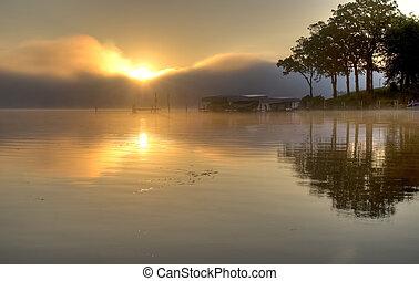 Sunrise Over Lake Okoboji.