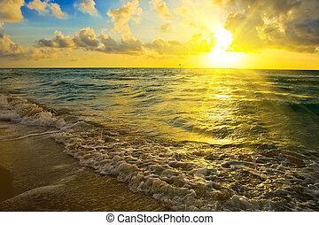Sunrise over ocean