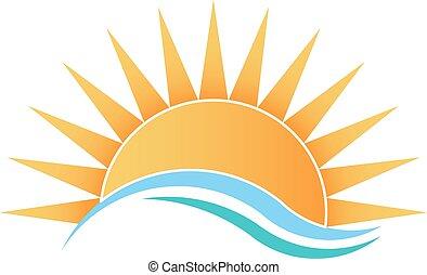 Sunshine with waves