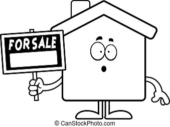 Surprised Cartoon Home Sale