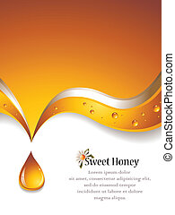 Sweet Honey Backgound