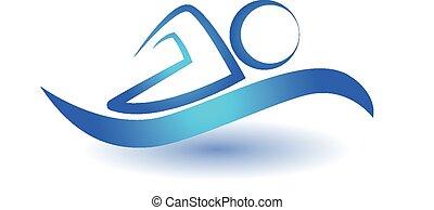 Swim sport icon vector illustration