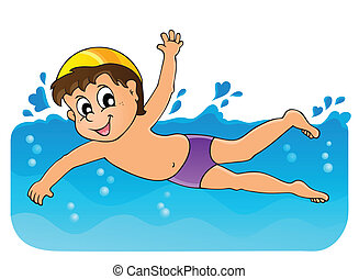 Swimming theme image 3 - eps10 vector illustration.
