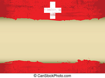 A swiss flag with a large frame for your message. Ideal to use for a screen