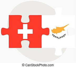 Switzerland and Republic of Cyprus Flags