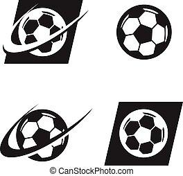 Swoosh Soccer Ball Logo Icon