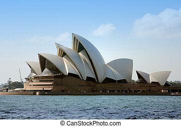 Sydney Opera House from over the harbour.