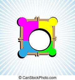 Symbol of teamwork, unity, union