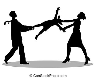 symbolic illustration, custody battle