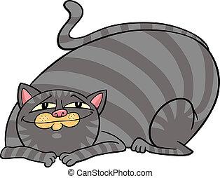 tabby fat cat cartoon