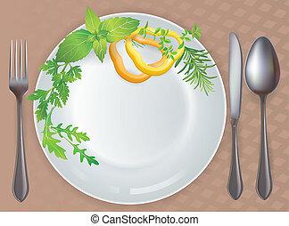 Tableware healthy food