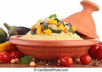 tajine with vegetarian couscous