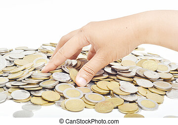 take coins from the pile
