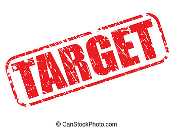 Target red stamp text on white