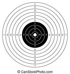Vector illustration of a target