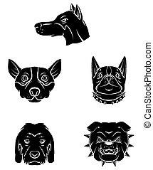 Tattoo Symbol Of Dog Head