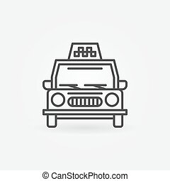 Taxi linear icon