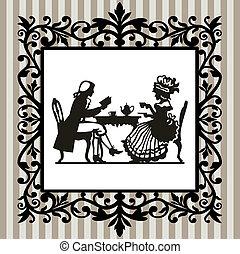 Tea time with frame