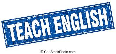 teach english square stamp