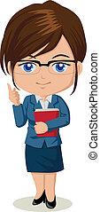 Cute cartoon illustration of a teacher