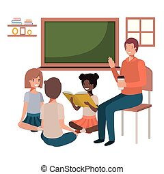 teacher in the classroom with students