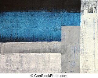 This image is of an original abstract art painting by T30 Gallery.