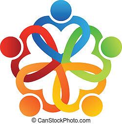 Team Interlaced hearts 5 Logo