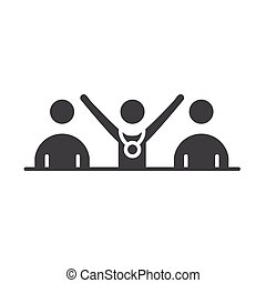 team people competition running speed sport silhouette icon design