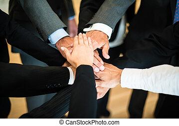 Teamwork - stack of hands