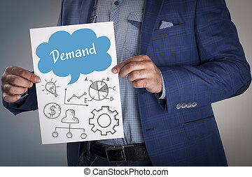 Technology, internet, business and marketing. Business analysis concept. Demand
