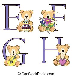 Teddy bear alphabet