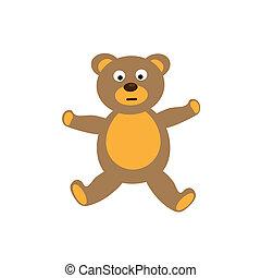 Teddy bear toy on white background