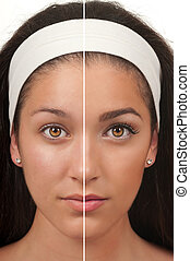 Teen make up before and after