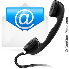 Telephone mail. Illustration for design on white background