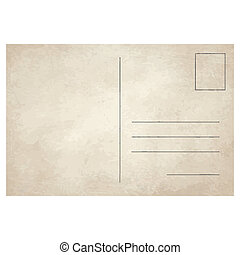 template vector of an old vintage postcard