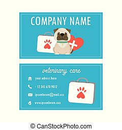 Template Veterinary business card