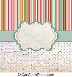 Vintage template with retro sun burst and olka dot background. And also includes EPS 8 vector