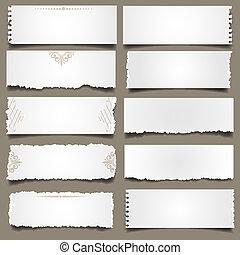 Ten notes paper .Vector eps 10