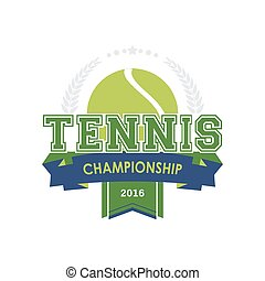 Tennis championship emblem vector. Design for your sport graphic project.