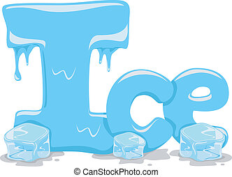 Text Illustration Featuring the Word Ice